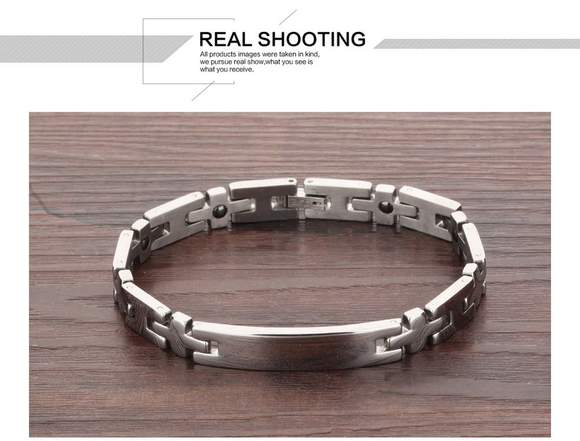 Wholesale 2018 New Fashion Stainless Steel Couples BraceletLovers TGSMB008 4