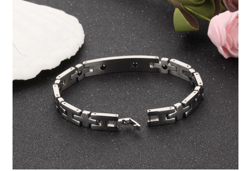 Wholesale 2018 New Fashion Stainless Steel Couples BraceletLovers TGSMB008 5