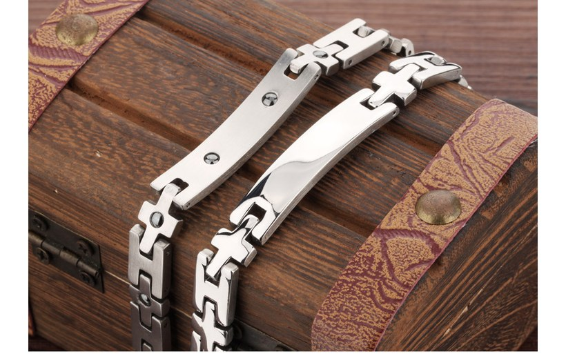 Wholesale 2018 New Fashion Stainless Steel Couples BraceletLovers TGSMB008 7