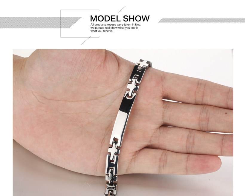 Wholesale 2018 New Fashion Stainless Steel Couples BraceletLovers TGSMB008 9