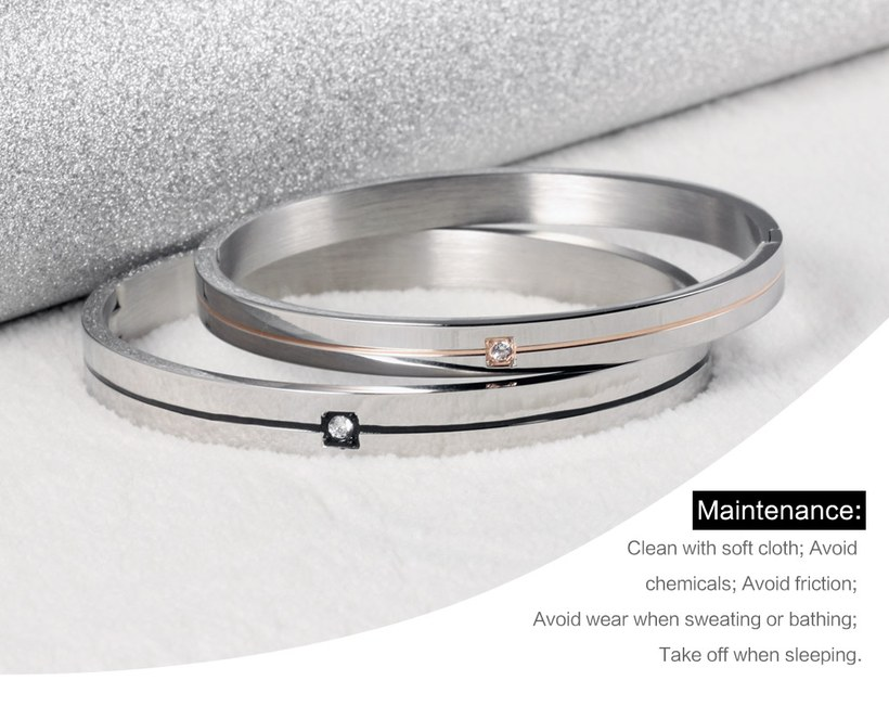 Wholesale 2018 New Fashion Stainless Steel Couples BraceletLovers TGSMB009 2