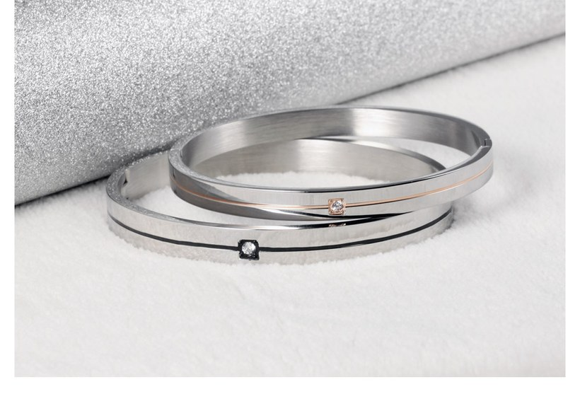 Wholesale 2018 New Fashion Stainless Steel Couples BraceletLovers TGSMB009 5