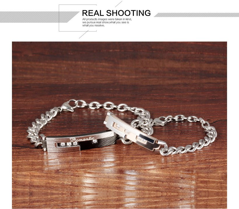 Wholesale 2018 New Fashion Stainless Steel Couples BraceletLovers TGSMB010 3