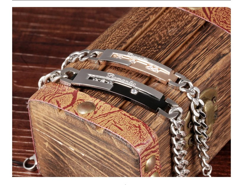 Wholesale 2018 New Fashion Stainless Steel Couples BraceletLovers TGSMB010 8