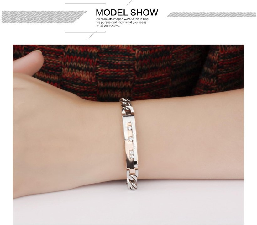 Wholesale 2018 New Fashion Stainless Steel Couples BraceletLovers TGSMB010 9