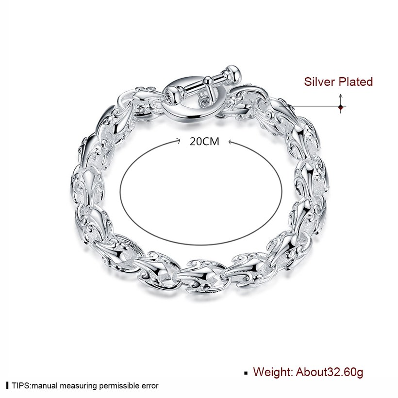 Wholesale Trendy Silver Hollow out flowers Bracelet TGSPB175 0