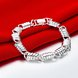 Wholesale Classic Silver Spring chains Lock Bracelet TGSPB218 1