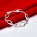 Wholesale Classic Silver Geometric Mouth Red CZ Bracelet TGSPB225 1