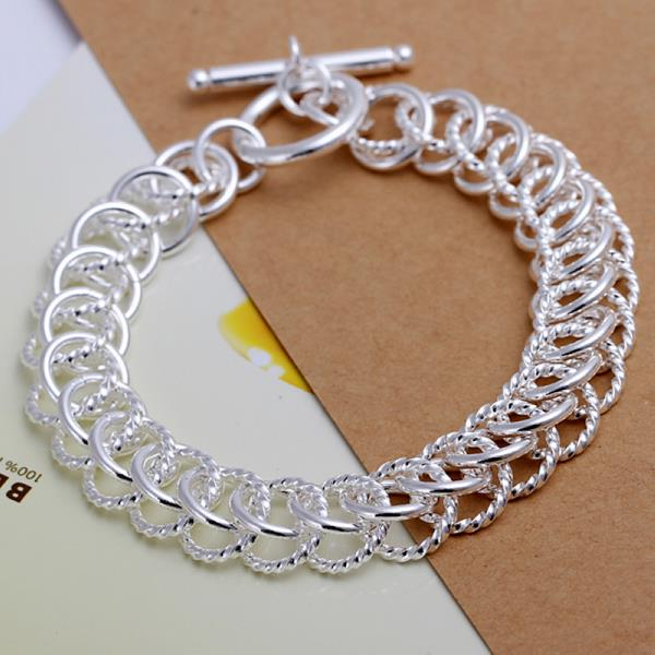 Wholesale Classic Silver Round Bracelet TGSPB369 0