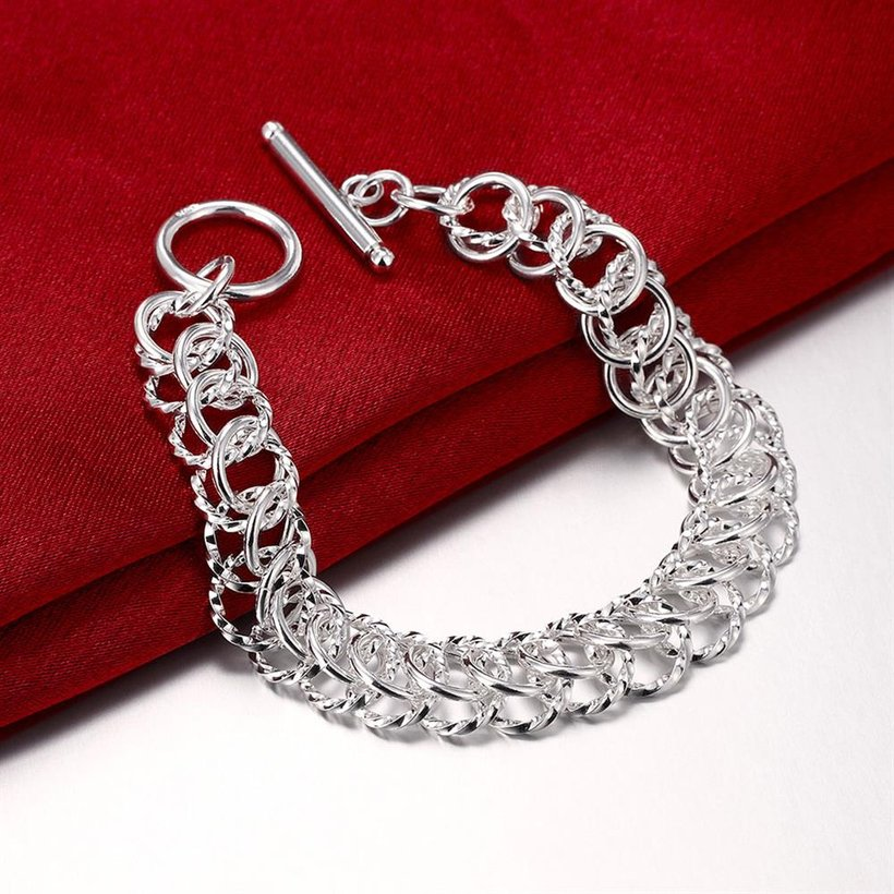 Wholesale Classic Silver Round Bracelet TGSPB369 2