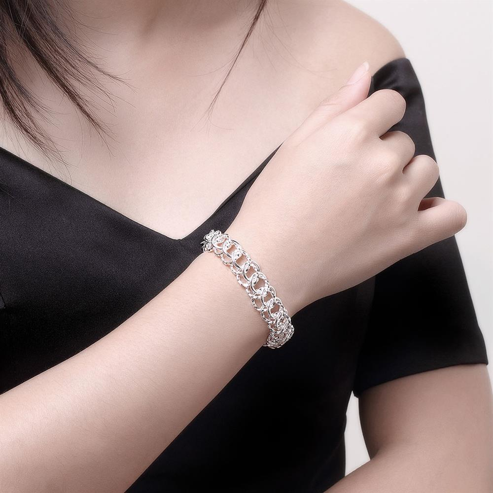 Wholesale Classic Silver Round Bracelet TGSPB369 3