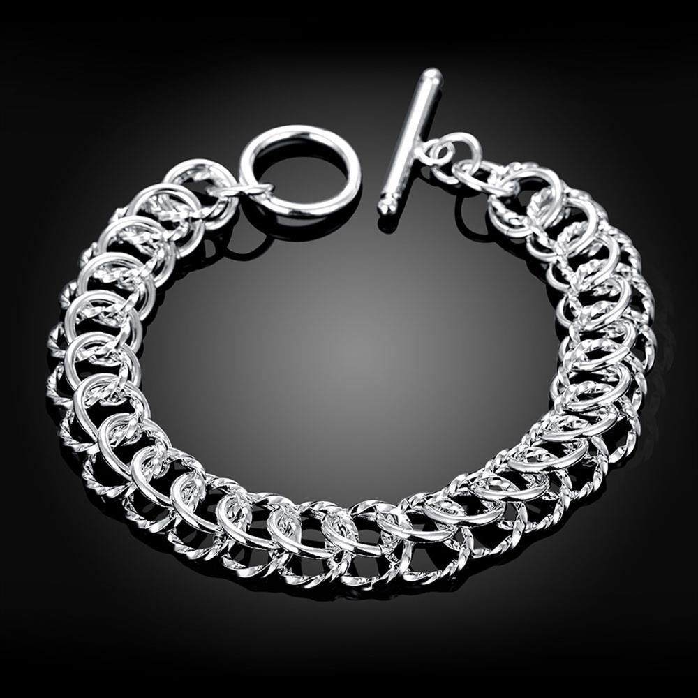 Wholesale Classic Silver Round Bracelet TGSPB369 4