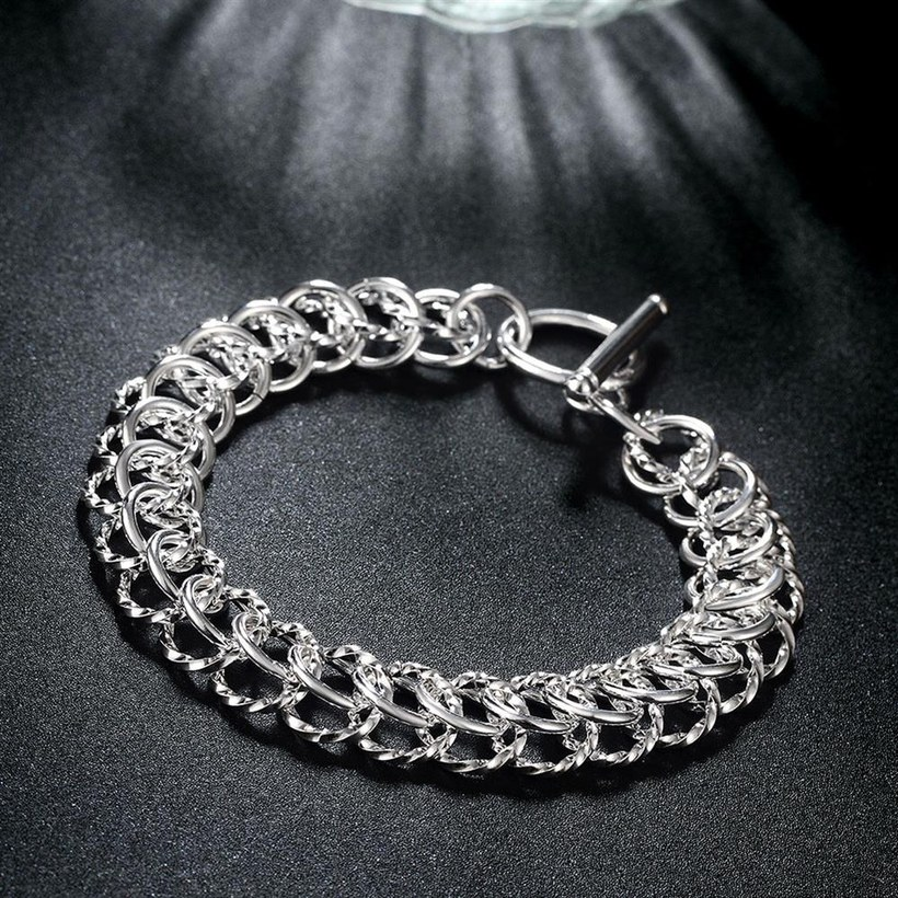 Wholesale Classic Silver Round Bracelet TGSPB369 5