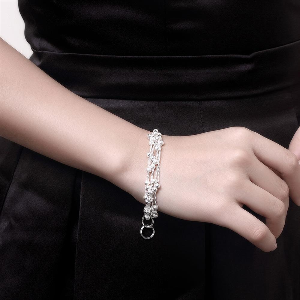 Wholesale Romantic Silver Ball Bracelet TGSPB385 0