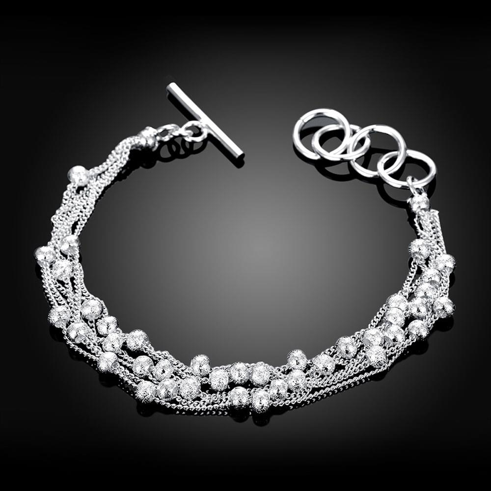 Wholesale Romantic Silver Ball Bracelet TGSPB385 1