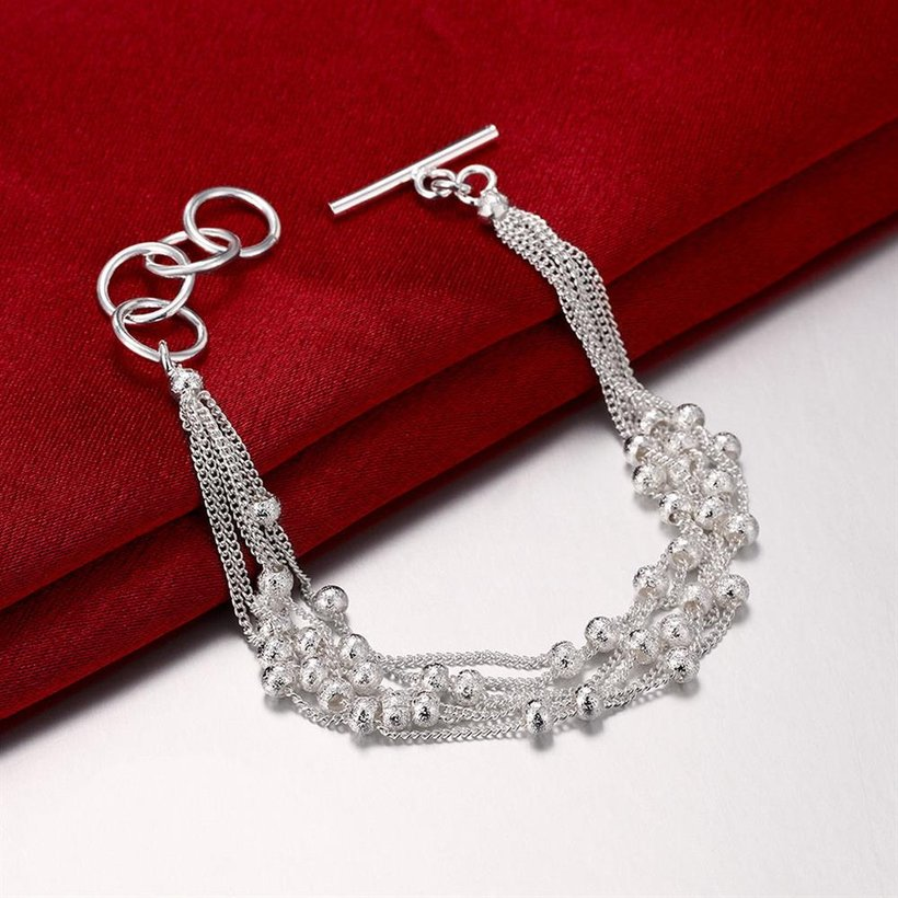 Wholesale Romantic Silver Ball Bracelet TGSPB385 2
