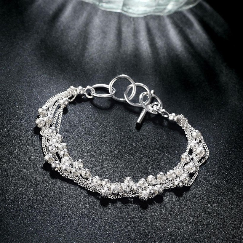 Wholesale Romantic Silver Ball Bracelet TGSPB385 4