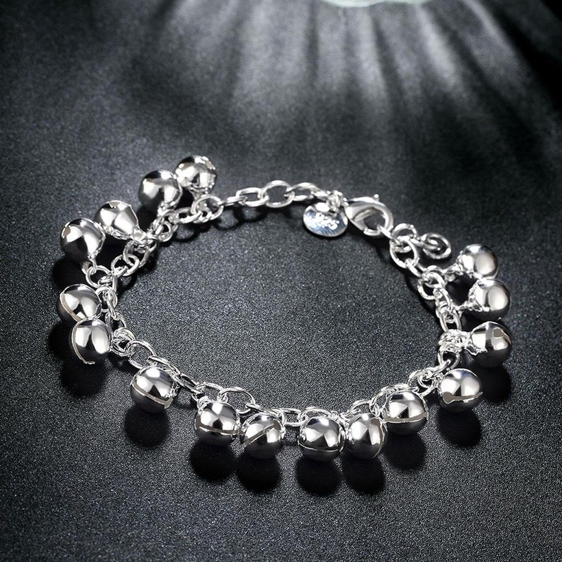 Wholesale Romantic Silver Ball Bracelet TGSPB409 4