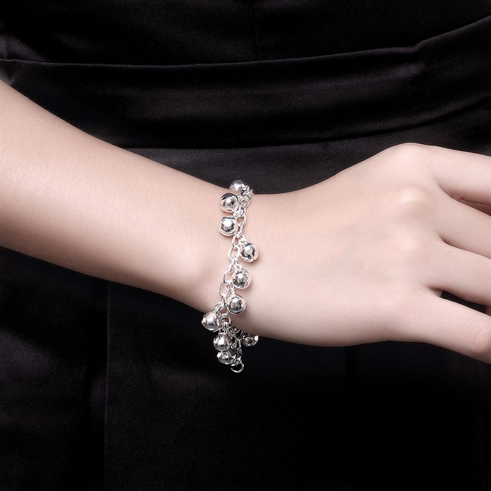 Wholesale Romantic Silver Ball Bracelet TGSPB409 5