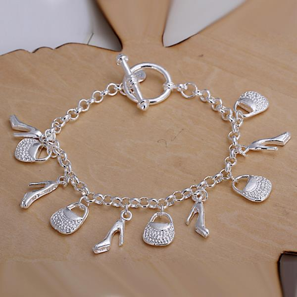 Wholesale Trendy Silver Lock Bracelet TGSPB066 0