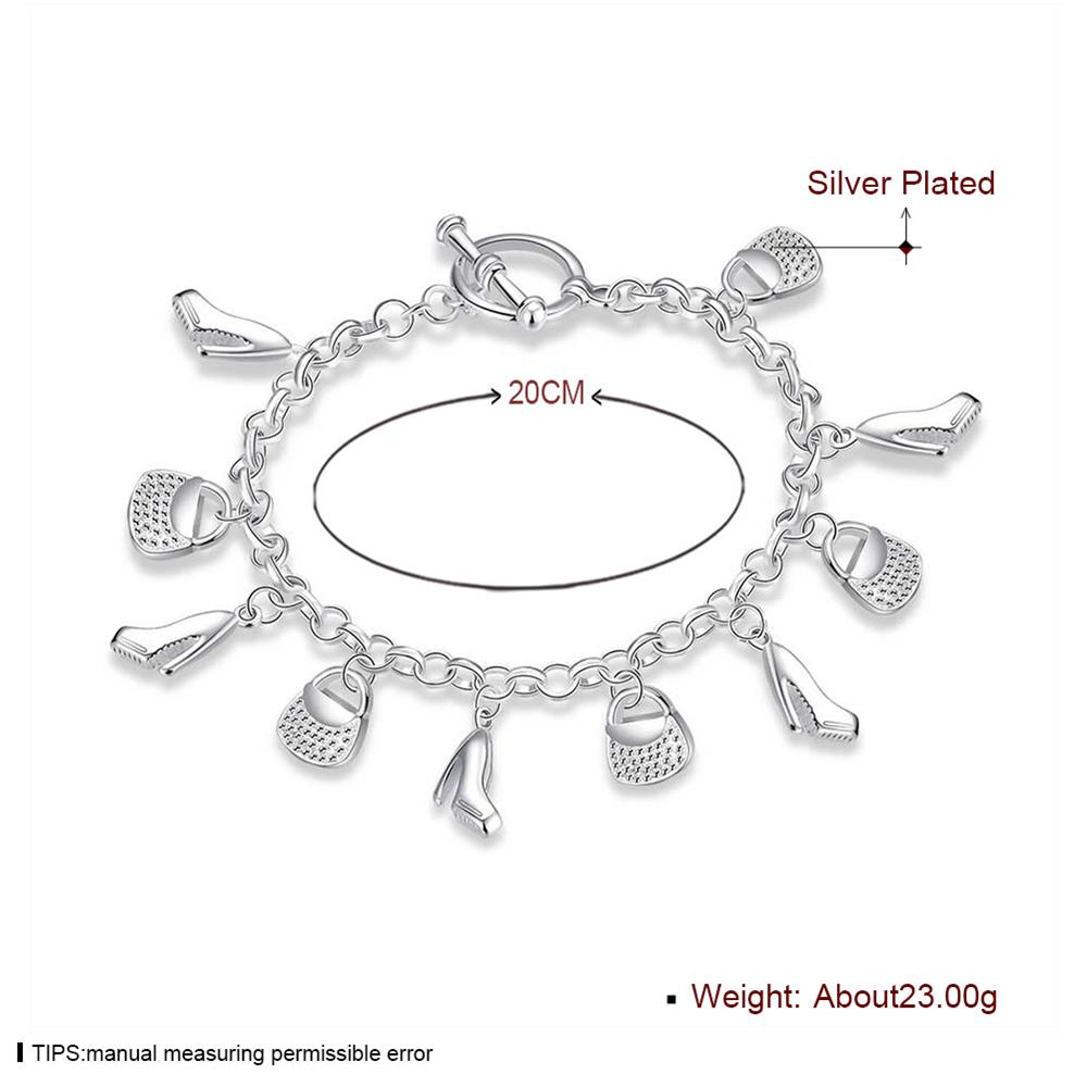 Wholesale Trendy Silver Lock Bracelet TGSPB066 1