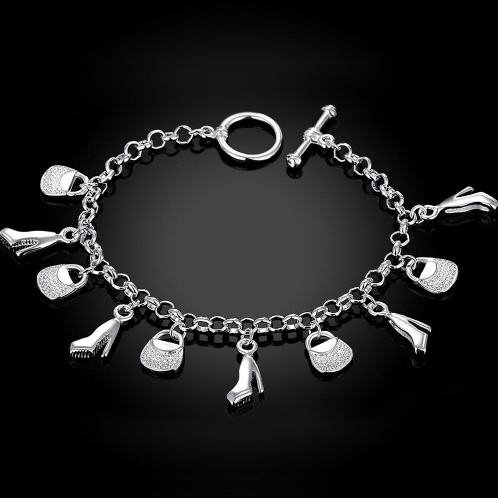 Wholesale Trendy Silver Lock Bracelet TGSPB066 2