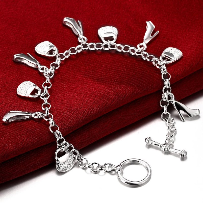 Wholesale Trendy Silver Lock Bracelet TGSPB066 3