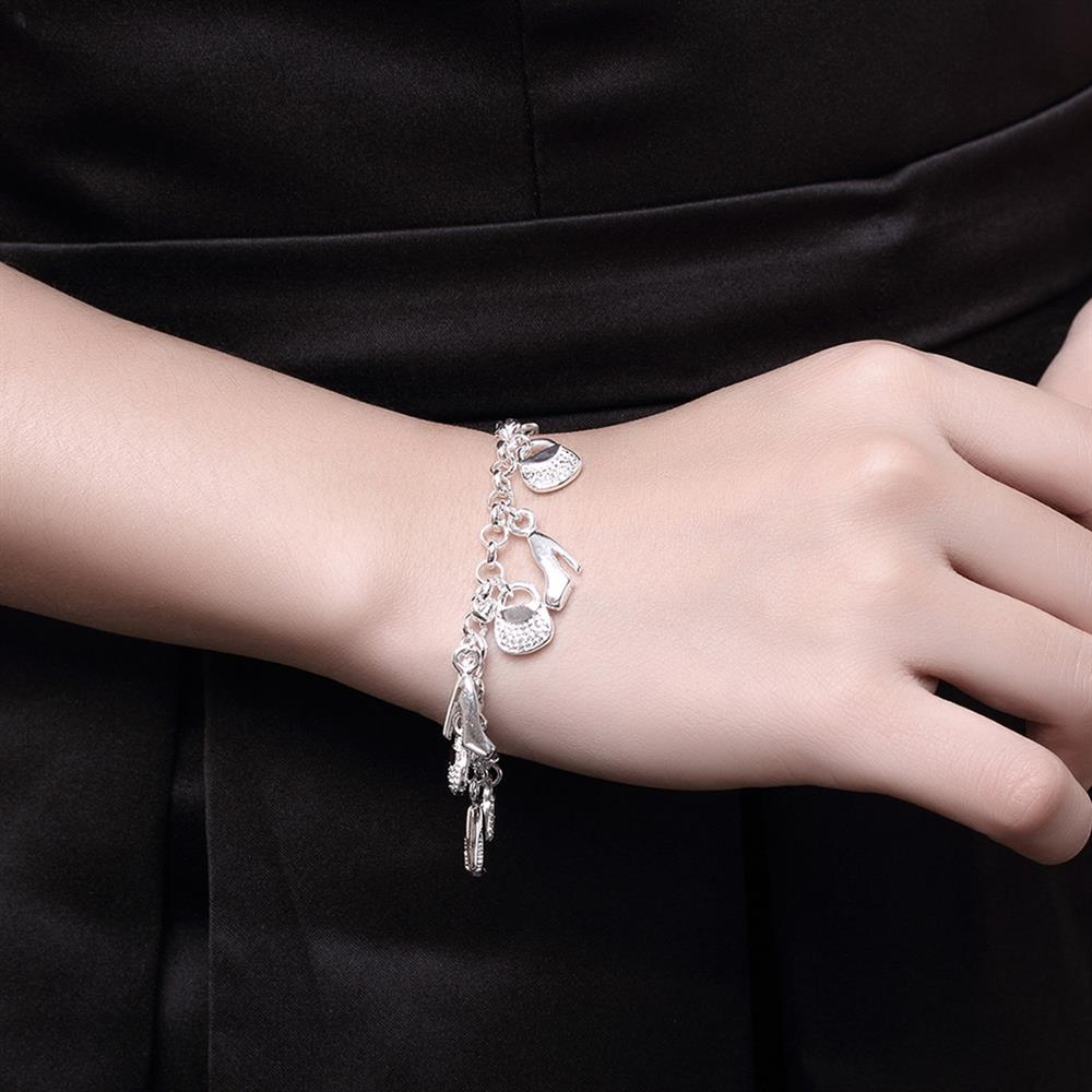 Wholesale Trendy Silver Lock Bracelet TGSPB066 5