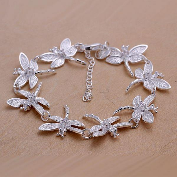 Wholesale Romantic Silver Animal Bracelet TGSPB071 0