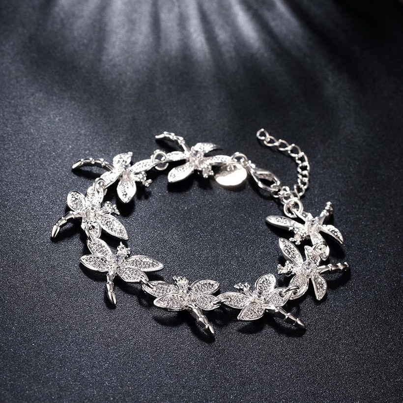 Wholesale Romantic Silver Animal Bracelet TGSPB071 2
