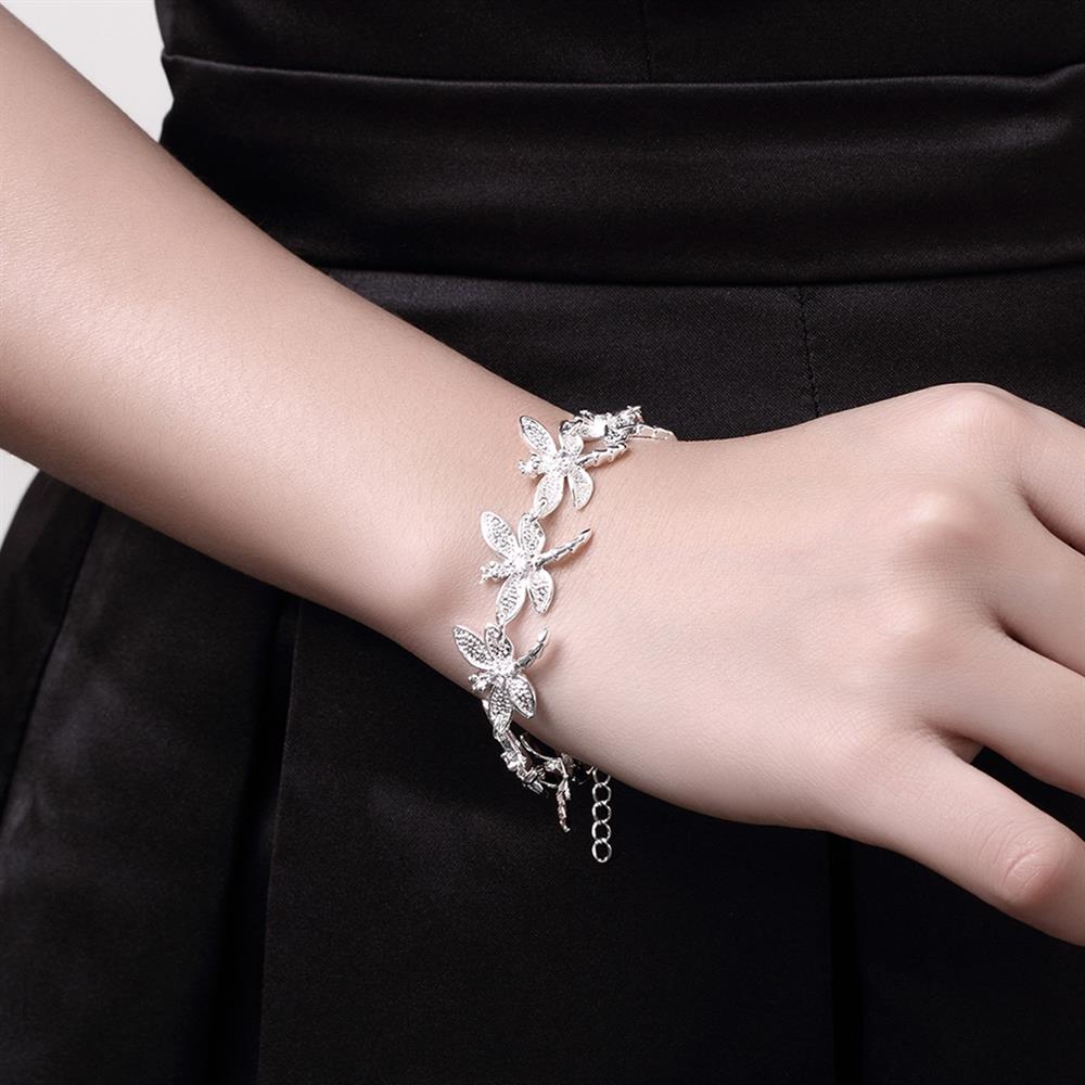 Wholesale Romantic Silver Animal Bracelet TGSPB071 3