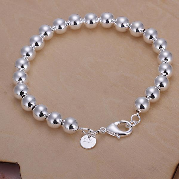 Wholesale Romantic Silver Ball Bracelet TGSPB081 0