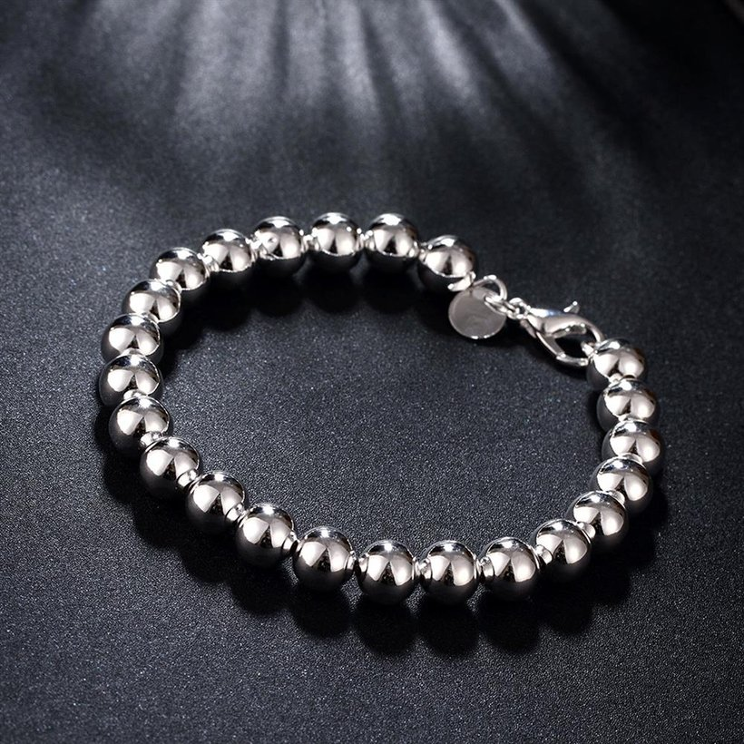 Wholesale Romantic Silver Ball Bracelet TGSPB081 4