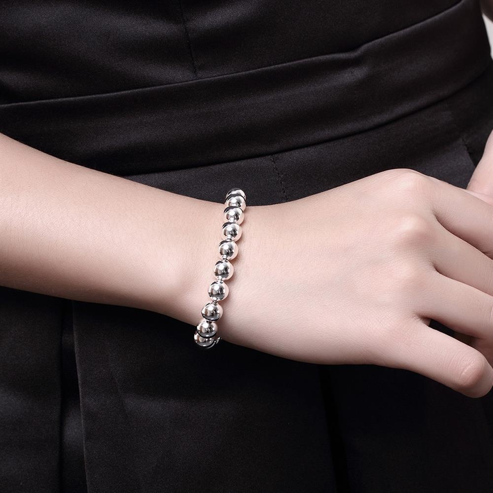 Wholesale Romantic Silver Ball Bracelet TGSPB081 5