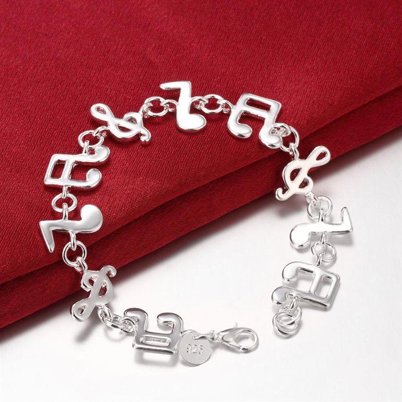 Wholesale Trendy Silver Feather Bracelet TGSPB290 2