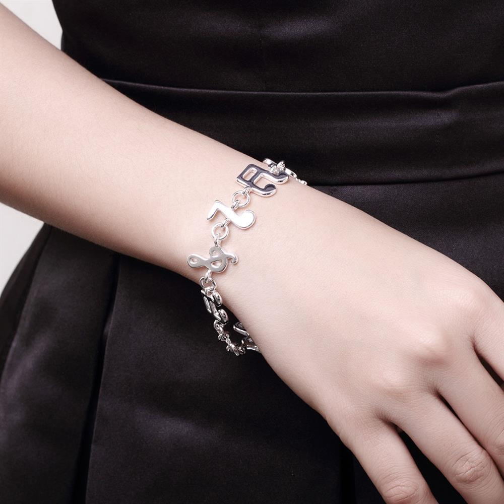 Wholesale Trendy Silver Feather Bracelet TGSPB290 5
