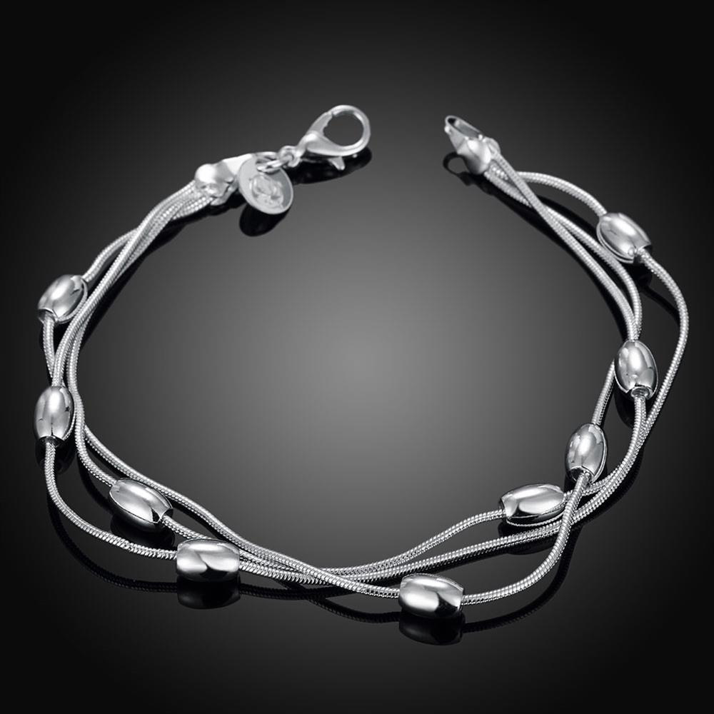 Wholesale Trendy Silver Ball Bracelet TGSPB300 0