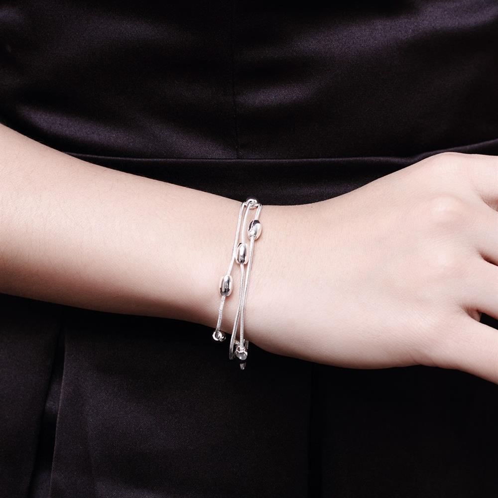 Wholesale Trendy Silver Ball Bracelet TGSPB300 4