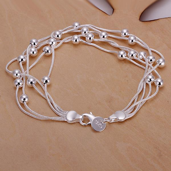 Wholesale Romantic Silver Ball Bracelet TGSPB304 0