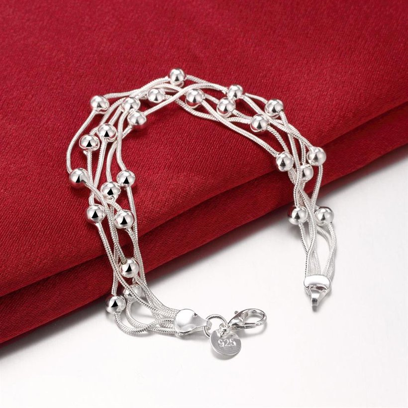 Wholesale Romantic Silver Ball Bracelet TGSPB304 3