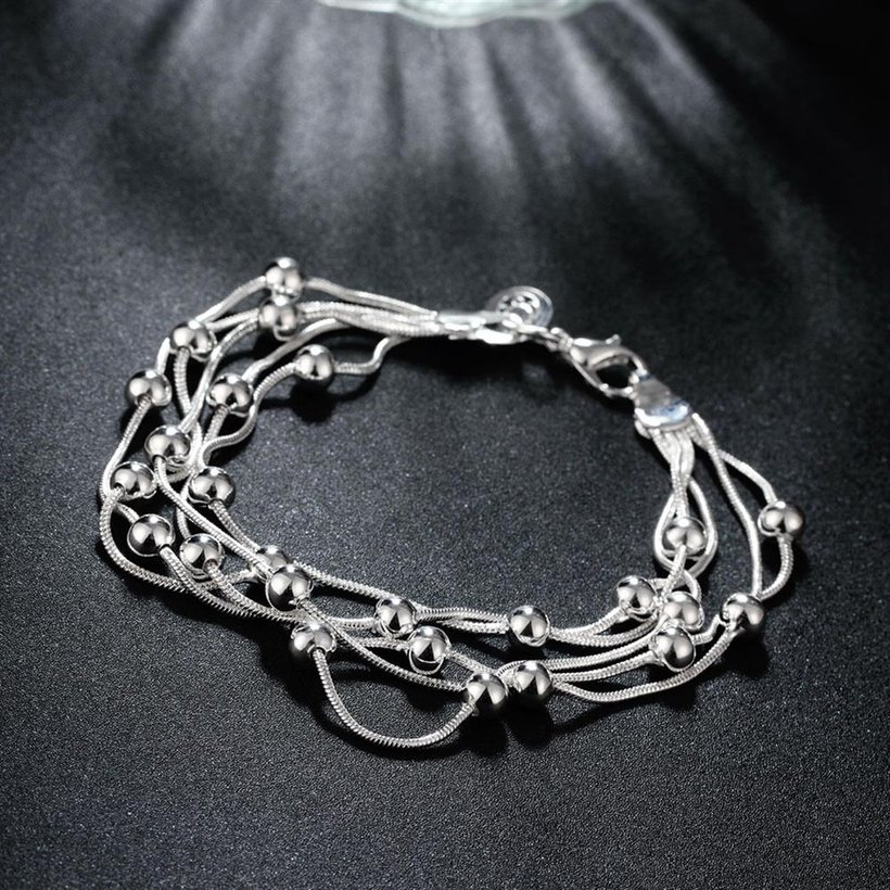 Wholesale Romantic Silver Ball Bracelet TGSPB304 4