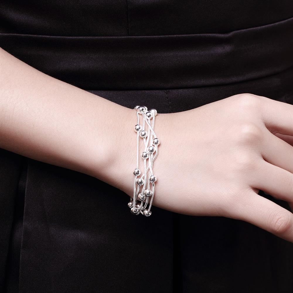 Wholesale Romantic Silver Ball Bracelet TGSPB304 5