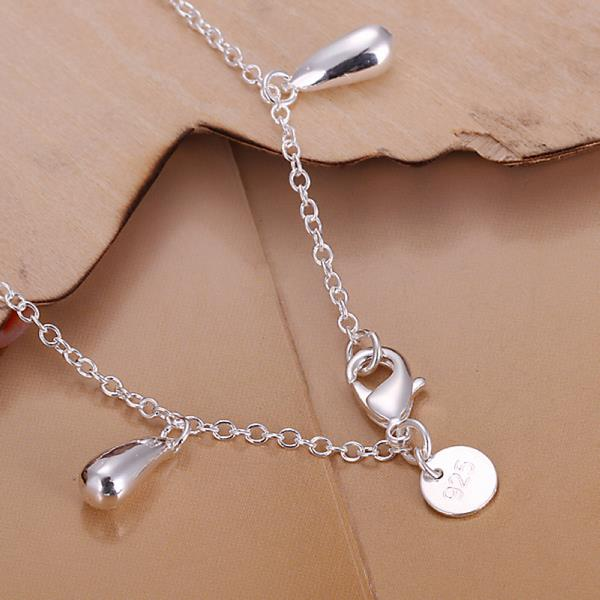 Wholesale Romantic Silver Water Drop Bracelet TGSPB317 0