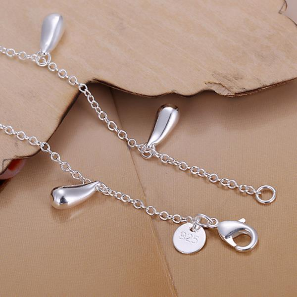 Wholesale Romantic Silver Water Drop Bracelet TGSPB317 2