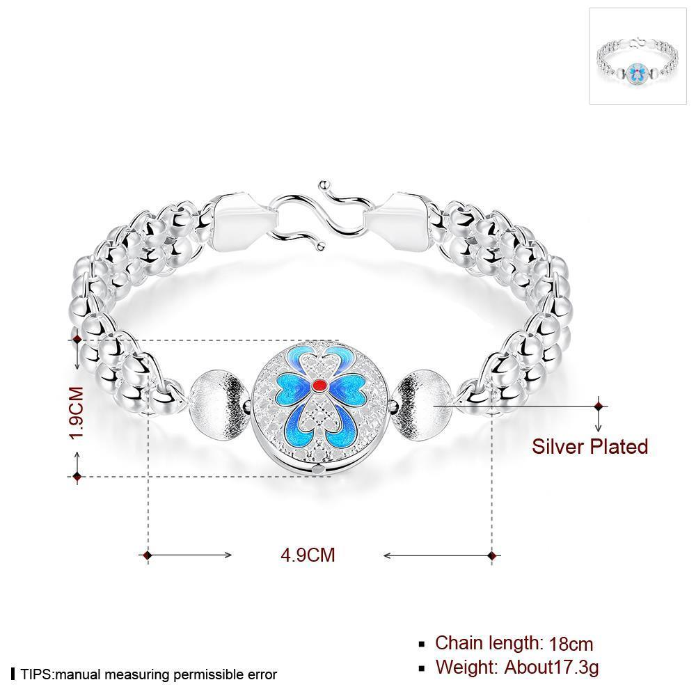 Wholesale Classic Silver Round Bracelet TGSPB344 0