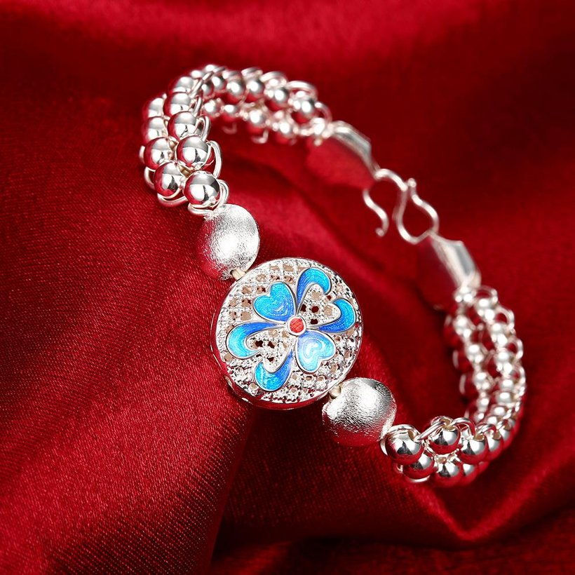 Wholesale Classic Silver Round Bracelet TGSPB344 2