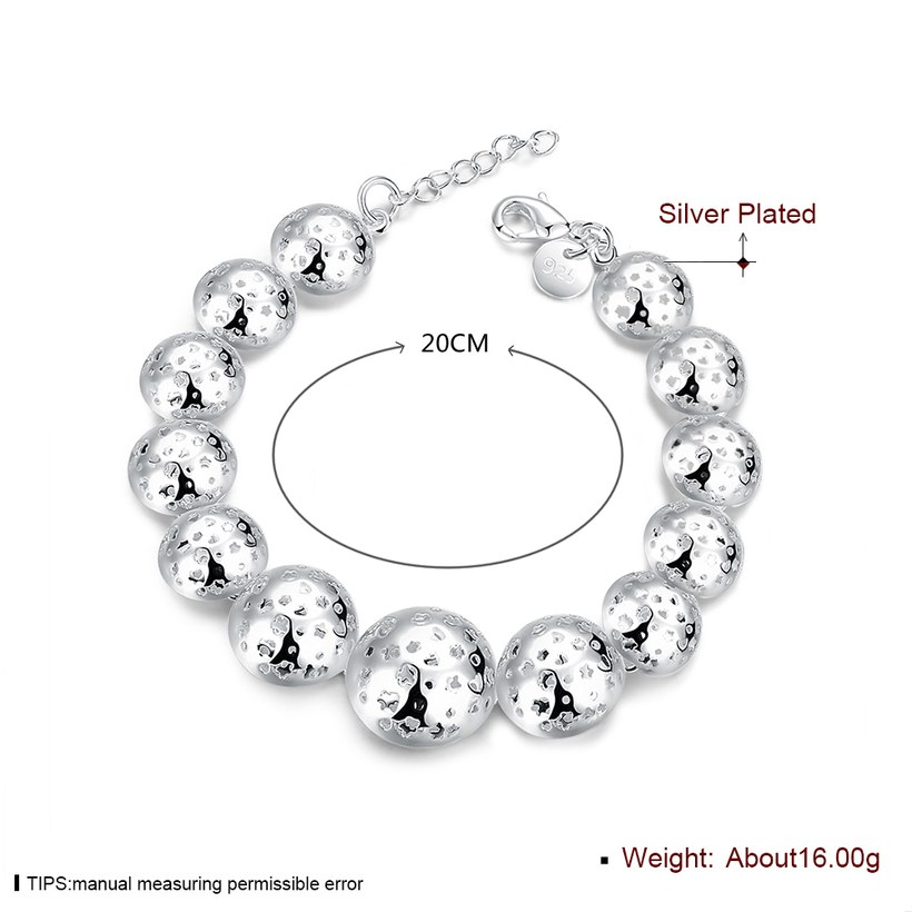 Wholesale Trendy Silver Heart Bracelet TGSPB070 0
