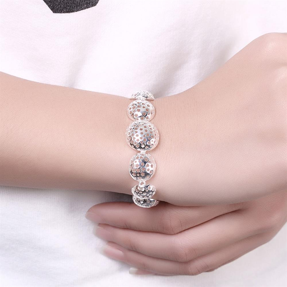 Wholesale Trendy Silver Heart Bracelet TGSPB070 1