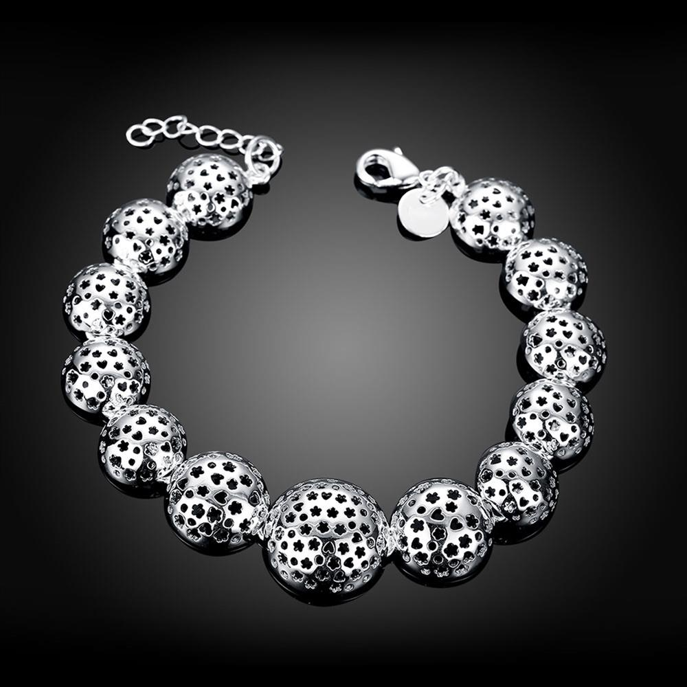 Wholesale Trendy Silver Heart Bracelet TGSPB070 2