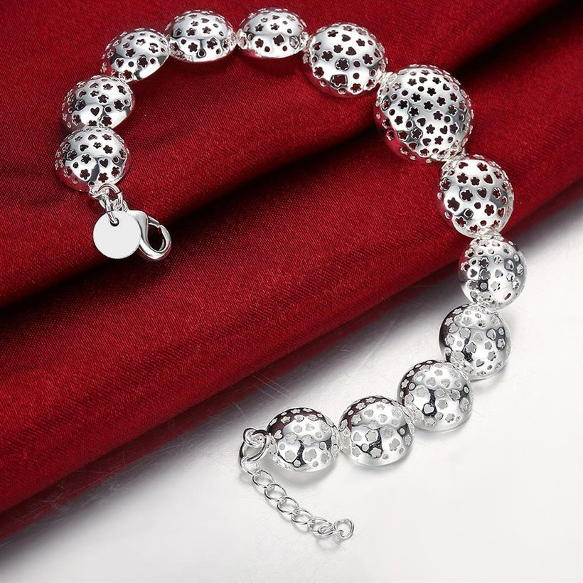 Wholesale Trendy Silver Heart Bracelet TGSPB070 3